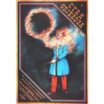 Circus is Leaving Krzysztof Wierzbiański Janusz Obłucki Polish Poster