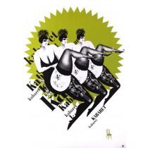 Cabaret Bogna Otto-Wegrzyn Polish Poster