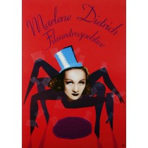 Marlene Dietrich Filmretrospektive Elżbieta Chojna Polish Poster