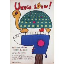 Attention, Turtle Rolan Bykov Bohdan Butenko Polish Poster