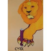 Circus Lion Danuta Żukowska Polish Poster