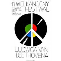Festiwal of Ludwig van Beethoven Wilhelm Sasnal Polish Poster