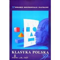 Opole Theatre Confrontations in Opole - 22th Bolesław Polnar Polish Poster