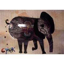 Circus Elephant Kaja Renkas Polish Poster
