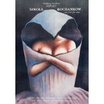 School of Lovers Krzysztof Tchórzewski Wiesław Rosocha Polish Poster