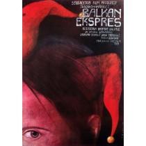 Balkan Express Wiktor Sadowski Polish Poster