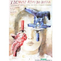 Biennale of Art for Children Wiktor Sadowski Polish Poster