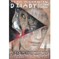 Forefathers' Eve, Adam Mickiewicz Wiktor Sadowski Polish Poster