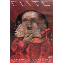 Elite - Spanish Bookstore Wiktor Sadowski Polish Poster