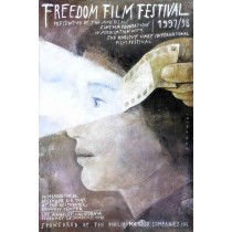 Freedom film festiwal Wiktor Sadowski Polish Poster