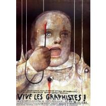 Vive les Graphistes Muzeum Plakatu Wilanów Wiktor Sadowski Polish Poster
