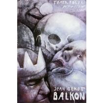 Balcony by Jean Genet Wiktor Sadowski Polish Poster