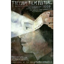 Freedom Film Festiwal Berlin Los Angeles, 1999 Wiktor Sadowski Polish Poster