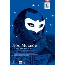Museum Night 2009 Joanna Górska Jerzy Skakun Polish Poster