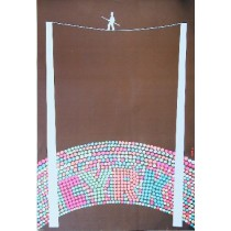 Circus Tightrope Romuald Socha Polish Poster