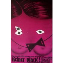 Run, Waiter, Run!, Waiter, Hater! Romuald Socha Polish Poster