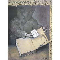 Biennale of Contemporary Exlibris - 15th Stasys Eidrigevicius Polish Poster
