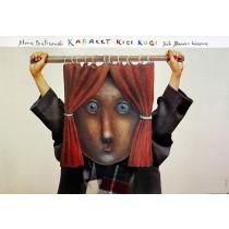 Cabaret Kici Koci Stasys Eidrigevicius Polish Poster