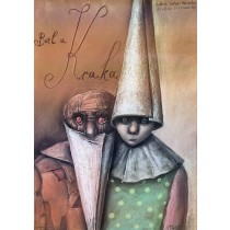 Bal by Krak Stasys Eidrigevicius Polish Poster