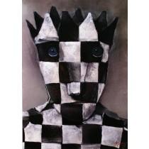 Schach and art Stasys Eidrigevicius Polish Poster