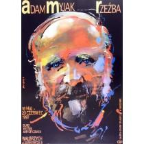 Adam Myjak, Sculptures Waldemar Świerzy Polish Poster