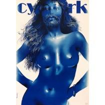 Circus bearded woman Waldemar Świerzy Polish Poster