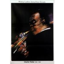 Charlie Parker Jazz Greats Waldemar Świerzy Polish Poster