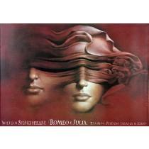 Romeo and Juliet - Łódź Wiesław Wałkuski Polish Poster