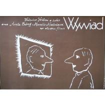 Federico Fellini's Intervista Federico Fellini Mieczysław Wasilewski Polish Poster