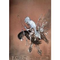 Faust Janusz Wiśniewski Polish Poster
