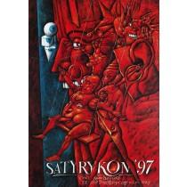 Satyrykon 1997 Leszek Wiśniewski Polish Poster