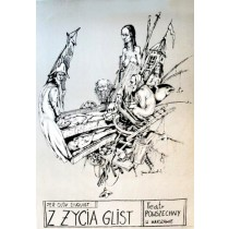 Rain snakes Per Olov Enquist Janusz Wiśniewski Polish Poster