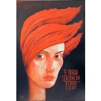 9th Theater Festival Leszek Żebrowski Polish Poster