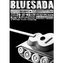 Bluesada - Blues festival XI Leszek Żebrowski Polish Poster