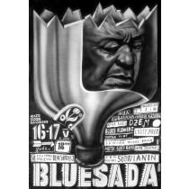 Bluesada - Blues festival Leszek Żebrowski Polish Poster