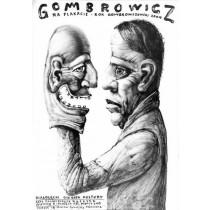 Gombrowicz on Poster Leszek Żebrowski Polish Poster