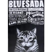 Bluesada XVI Leszek Żebrowski Polish Poster