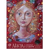 Alice in Wonderland Leszek Żebrowski Polish Poster