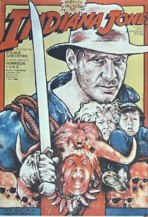 Indiana Jones and the temple of doom Steven Spielberg Witold Dybowski Polish movie poster