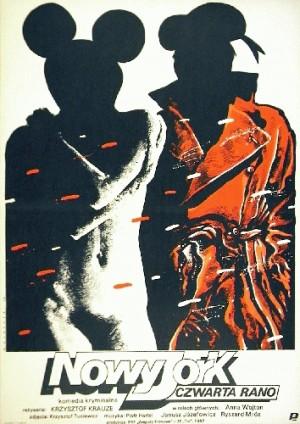 New York, 4 A.M. Krzysztof Krauze Witold Dybowski Polish movie poster
