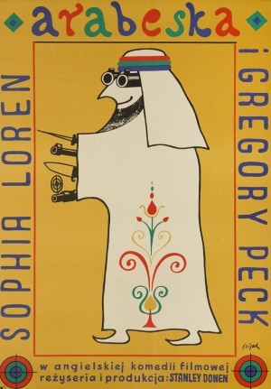 Arabesque Jerzy Flisak Polish movie poster