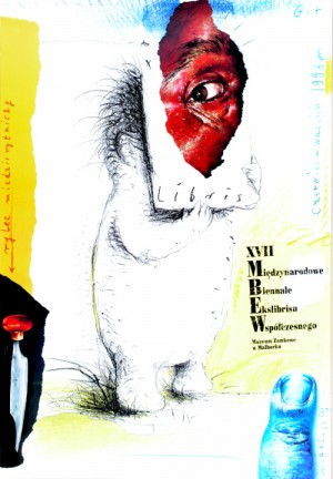 Biennale of Contemporary Exlibris - 17th Eugeniusz Get Stankiewicz Polish Poster