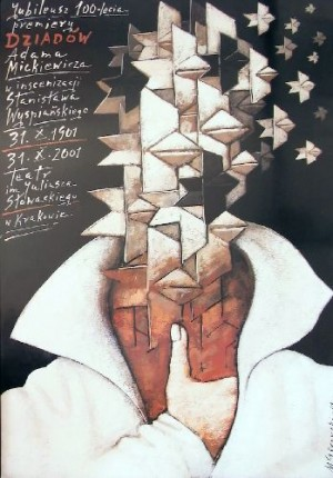 100th Anniversary of Grandfathers Mieczysław Górowski Polish theater poster