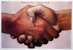 America!, America! Mieczysław Górowski Polish exhibition poster