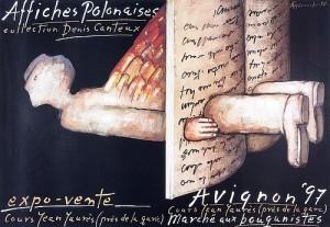 Avignon Affiches Polonaises 1997 Mieczysław Górowski Polish exhibition poster