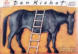 Don Quijote Mieczysław Górowski Polish exhibition poster