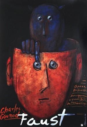 Faust – Charles Gounod Mieczysław Górowski Polish opera poster