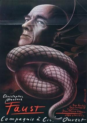 Doctor Faustus, Christopher Marlowe Mieczysław Górowski Polish theater poster