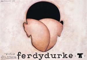 Ferdydurke, Witold Gombrowicz Mieczysław Górowski Polish Poster