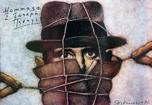 Hommage a Joseph Beuys Mieczysław Górowski Polish exhibition poster